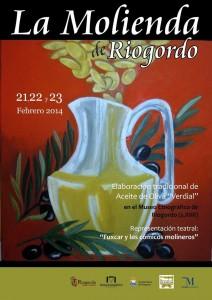 Cartel molienda Riogordo 2014