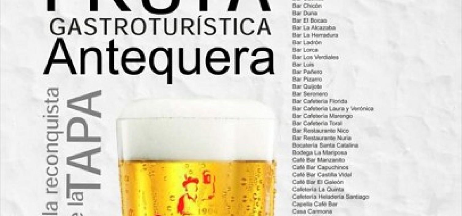 Cartel de la Ruta de la Tapa Gastroturística de Antequera