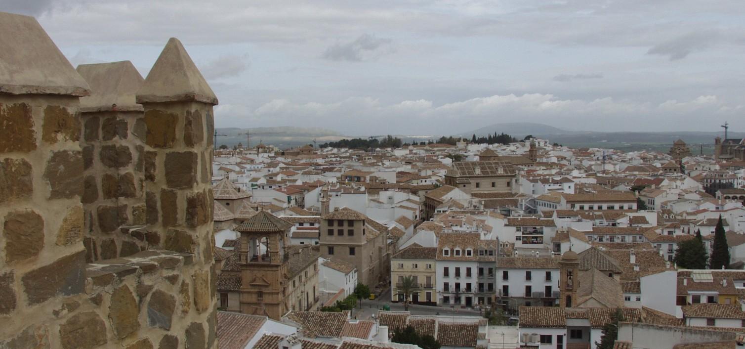 Vista de Antequera desde la Alcazaba
