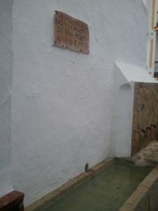 Cartel fuente Montejaque