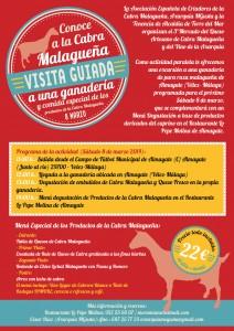 Cartel de la excursión organizada este sábado para visitar una ganadería caprina malagueña.