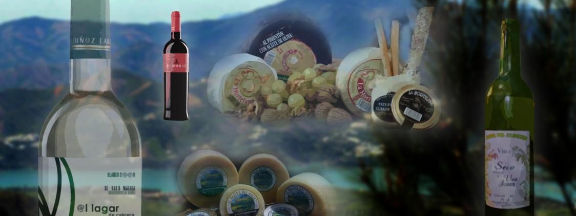El queso de cabra y el vino de la Axarquía