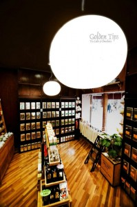 Tienda de tés y cafés Golden Tips.