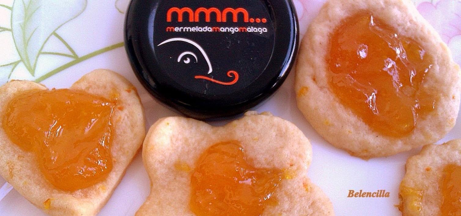 """Receta de galletas sin huevo, de mantequilla y mermelada (versión """"cookie"""")"""
