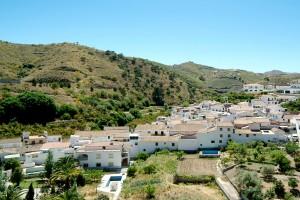 Vista del pueblo de La Viñuela.