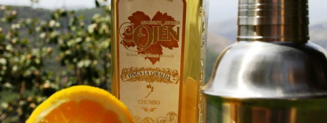 Cóctel de aguardiente de higos chumbos con naranja