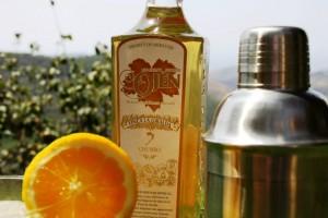 Aguardiente de higos chumbos de Ojén con naranja