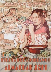 Cartel que ilustra este año la Fiesta del Ajoblanco de Almáchar.