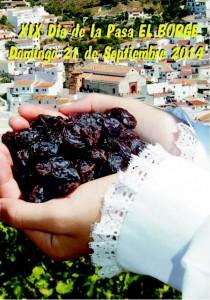 Cartel del Día de la Pasa en El Borge.