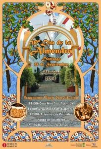 Cartel de la décima edición del Día de la Almendra de Almogía 2014.