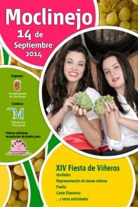 Cartel de la Fiesta de Viñeros de Moclinejo.