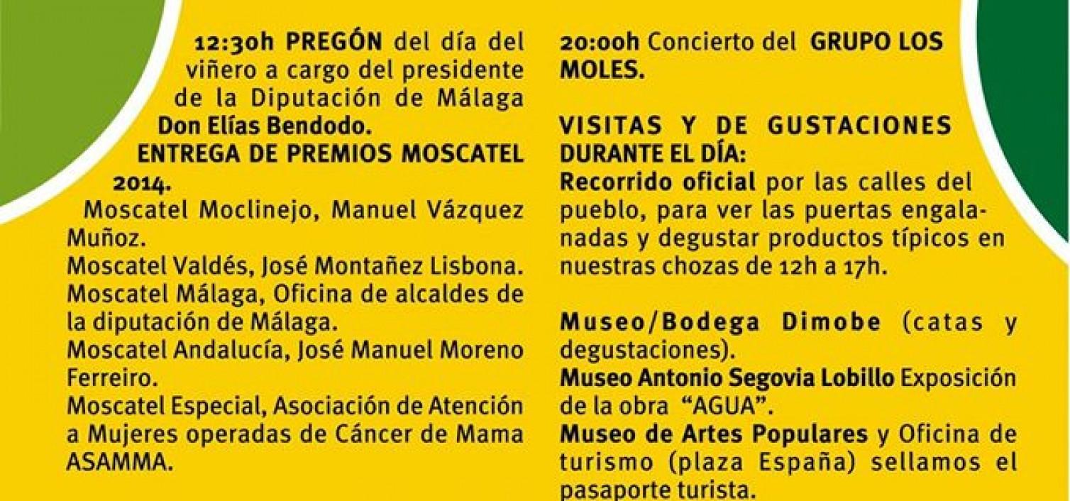 Programa de fiestas de viñeros de Moclinejo
