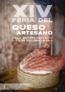 Cartel de esta décimo cuarta edición de la Feria del Queso Artesano de Teba.