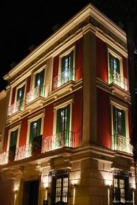 Fachada del Palacio de Crópani, en calle Álamos.
