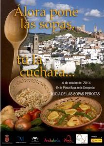 Cartel de la presente edicion del Día de las Sopas Perotas.