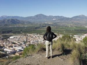Vista panorámica de Pizarra en el camino de subida al Santo.
