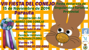 Cartel Fiesta del Conejo de Parauta