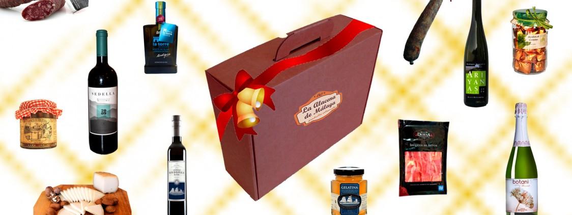 Cestas de Navidad con productos malagueños
