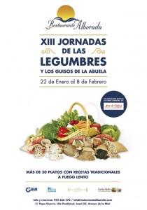 Cartel de las XIII Jornadas de las legumbres - Restaurante Alborada