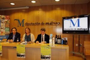 La feria se presentó en la Diputación de Málaga. De izquiera a derecha, Paco Lorenzo Tapia, Leonor García Agua y Adolfo Fernánedz.