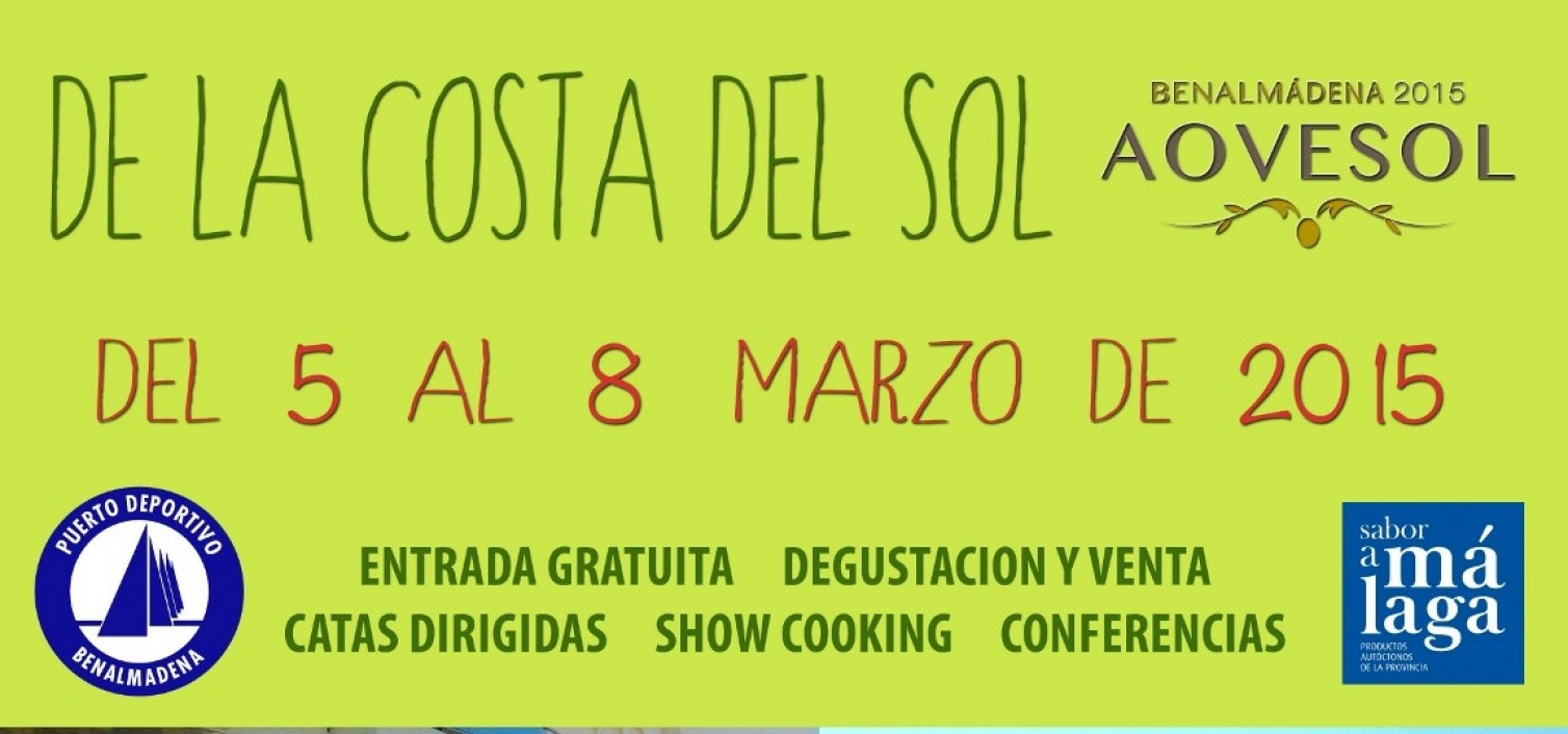 Cartel de la II Feria del Aceite de Oliva Virgen Extra de la Costa del Sol Aovesol 2015