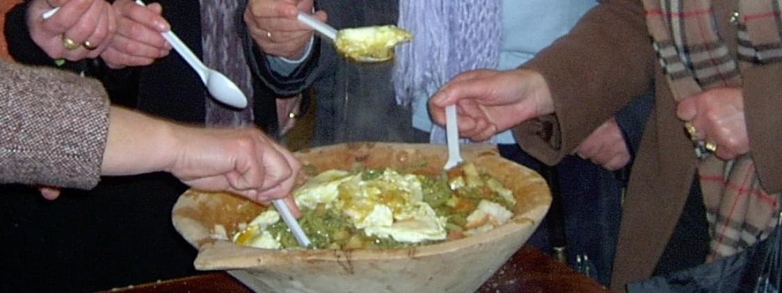 Fiesta de la Sopa de los Siete Ramales en El Burgo