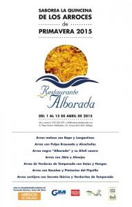 Suculentos arroces aguardan en la primera quincena de abril en Alborada.