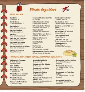 Establecimientos participantes en Cocina de Cuaresma.