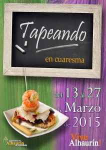 Cartel de esta primera edición de Tapeando en Cuaresma.
