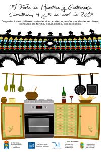 Cartel de la Feria de Muestras y Gastronomía de Carratraca.