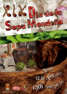Cartel de esta edición del Día de la Sopa Mondeña.