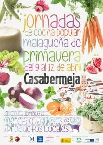 Cartel de esta cuarta edición de las Jornadas de Cocina Popular Malagueña de Primavera.