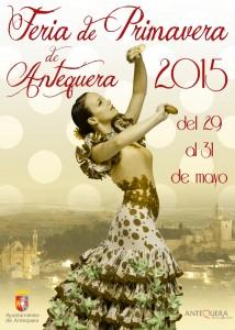 Cartel de esta edición de la Feria de la Primavera de Antequera.