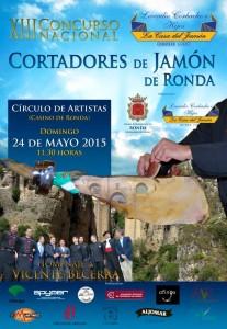 Cartel del Concurso Nacional de Cortadores de Jamón de Ronda.