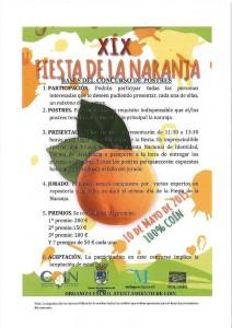 Concurso de repostería con naranjas.