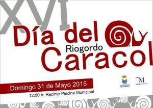 Cartel del Día de caracol en Riogordo 2015