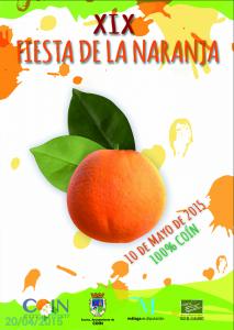 Cartel de la XIX Fiesta de la Naranja de Coín.