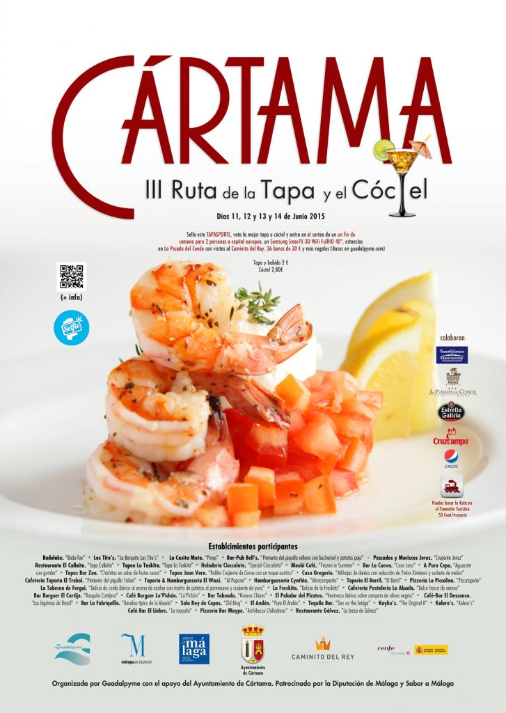Cartel de la Ruta de la Tapa y del Cóctel de Cartama 2015