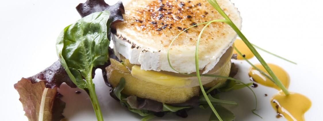 Receta de ensalada templada de queso de cabra