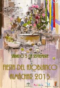 Cartel de la Fiesta del Ajoblanco 2015.
