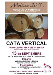 Este domingo habrá una cata vertical de vinos de Mollina.