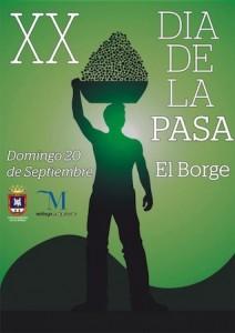 Cartel del XX Día de la Pasa en El Borge.