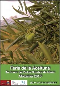Cartel de esta edición de la Feria de la Aceituna en Alozaina 2015