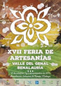 Cartel de la Feria de Artesanía del Valle del Genal de este año.