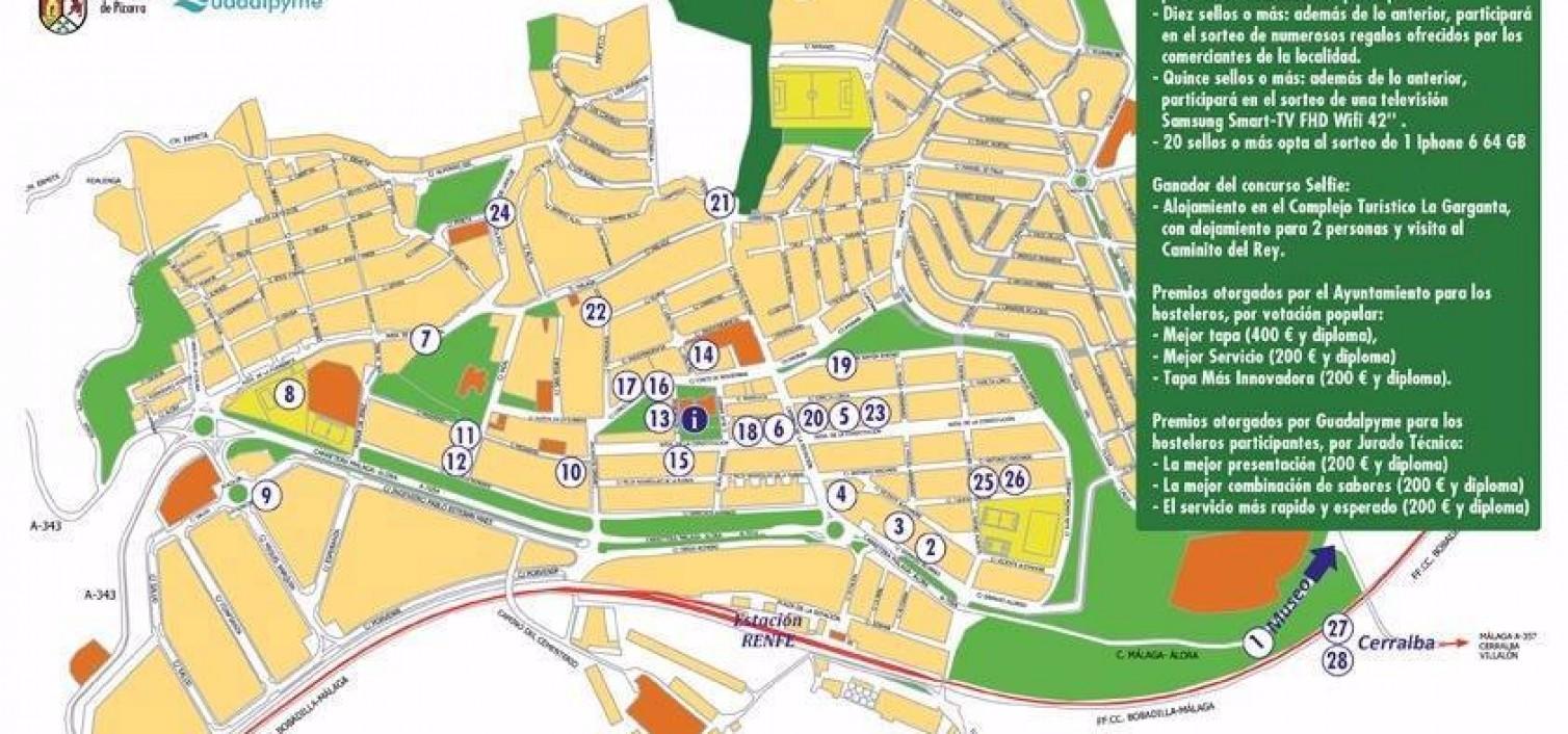 Plano Ruta de la Tapa de Pizarra 2015