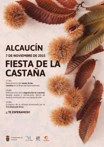 Cartel de la Fiesta de la Castaña de Alcaucín.