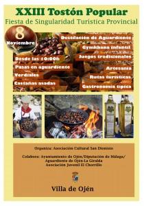 Cartel de esta vigésimo tercera edición del Tostón Popular de Ojén.