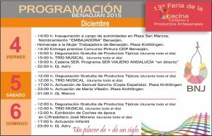 Programación de la Feria de la Chacina de 2015.