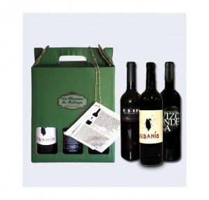 Pack de tres vinos tintos de Málaga - El regalo perfecto