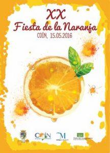 Cartel de la XX Fiesta del Naranja de Coín.